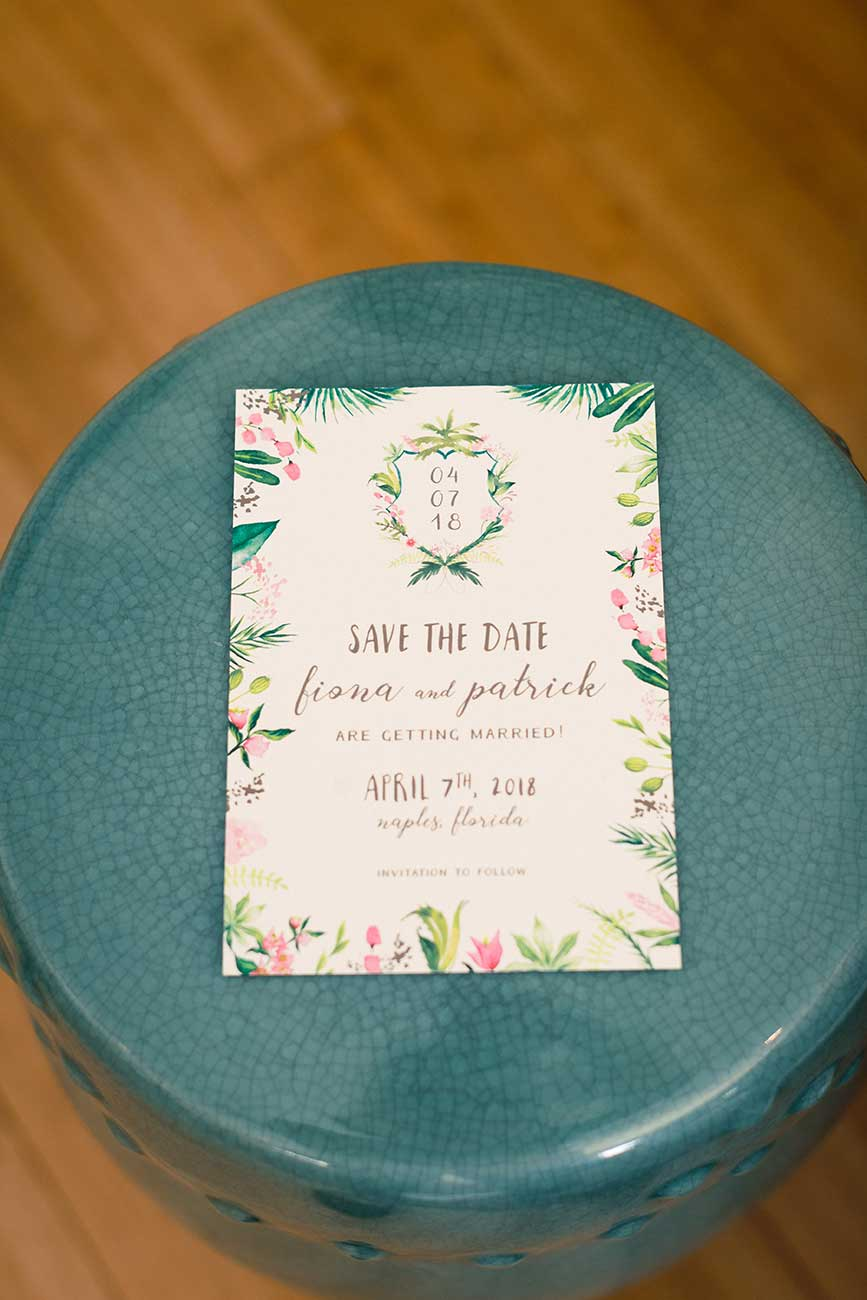 Save the date stationary