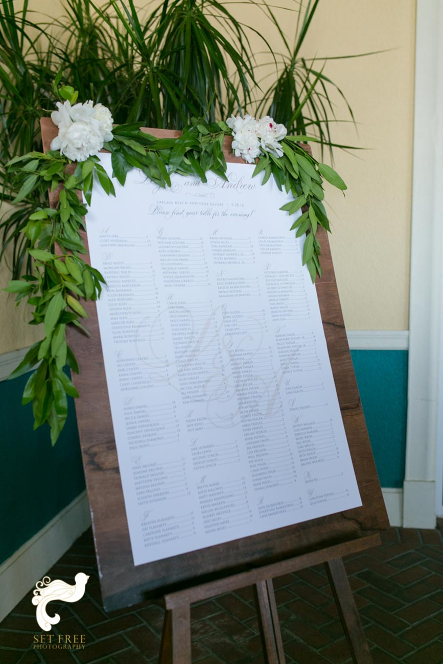 Large frame with table setting instructions printed in them