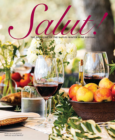 Download a PDF of Naples Winter Wine Festival events designed by Margaret Events, featured in Salut magazine